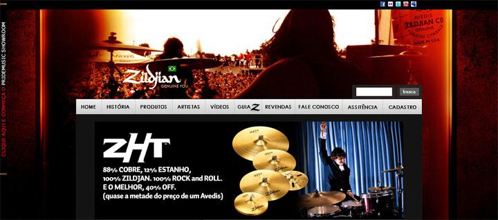 Clique para visitar o novo site da Zildjian!